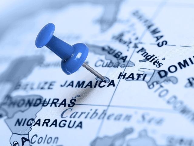 Mapa Jamajky