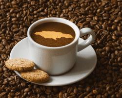Jamajská káva v šálke